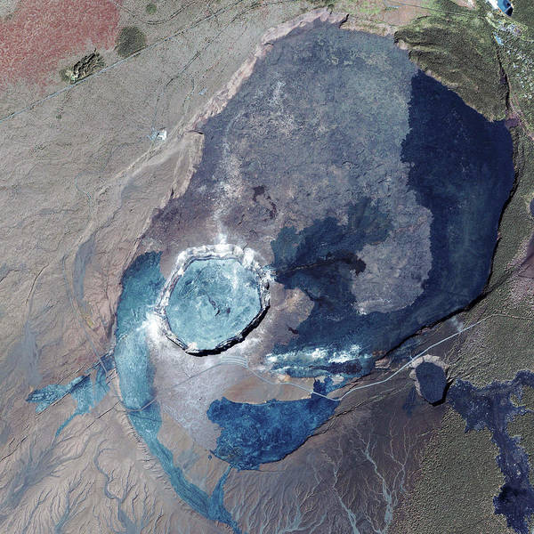 Recent Photograph - Kilauea Volcano by Geoeye/science Photo Library