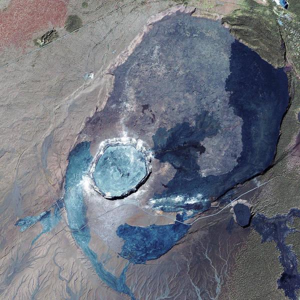Active Volcano Photograph - Kilauea Volcano by Geoeye/science Photo Library