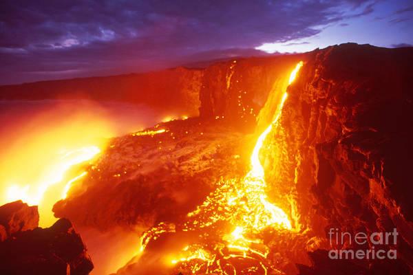 Photograph - Kilauea Volcano Lava by Stephen & Donna O'Meara