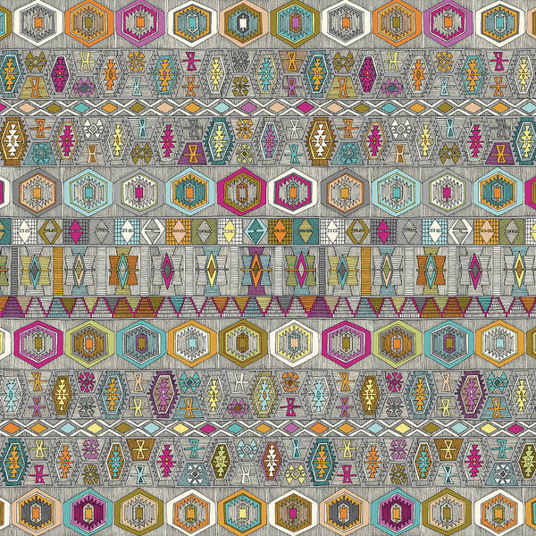 Wall Art - Painting - Kilim Pembe by MGL Meiklejohn Graphics Licensing