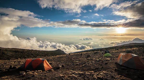 Tent Photograph - Kilimanjaro Sunset by Rod Gotfried Photography