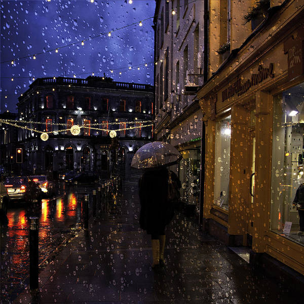 Bluehour Photograph - Kilkenny Rain by Janet Meehan