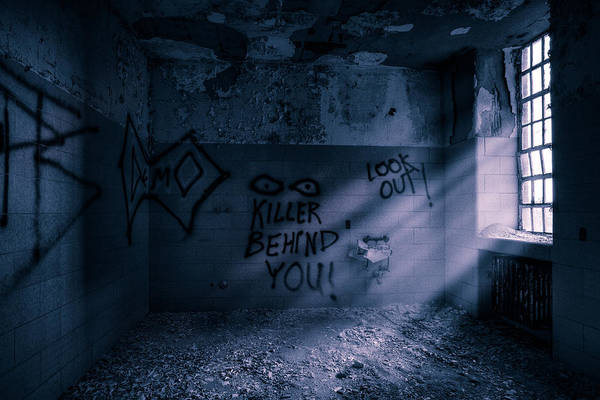 Photograph - Killer Behind You - Abandoned Hospital Asylum by Gary Heller