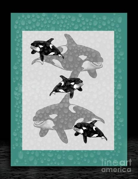 Mamal Digital Art - Killer Whales by Karen Sheltrown