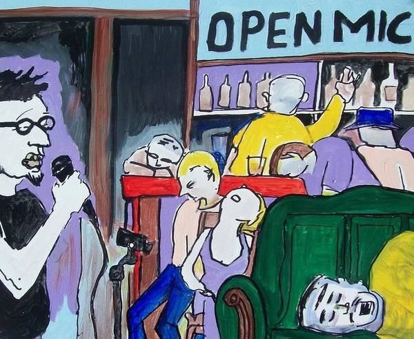 Clarion Wall Art - Painting - Killing - Open Mic by James Christiansen