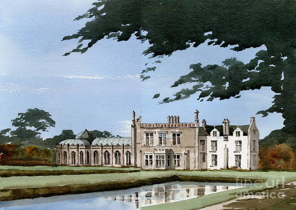 Painting - Killruddery House Bray Wicklow by Val Byrne