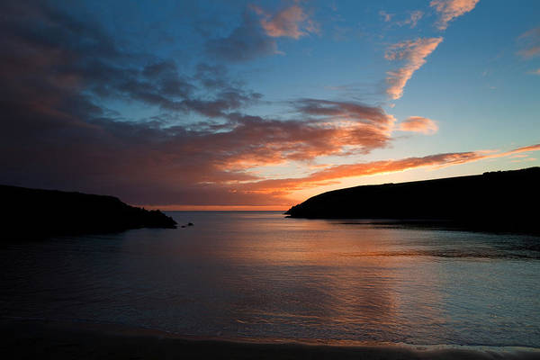 County Waterford Photograph - Kilmurrin Cove At Sunset The Copper by Panoramic Images