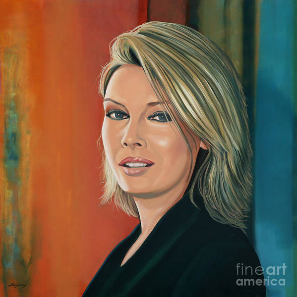 Close Painting - Kim Wilde Painting by Paul Meijering