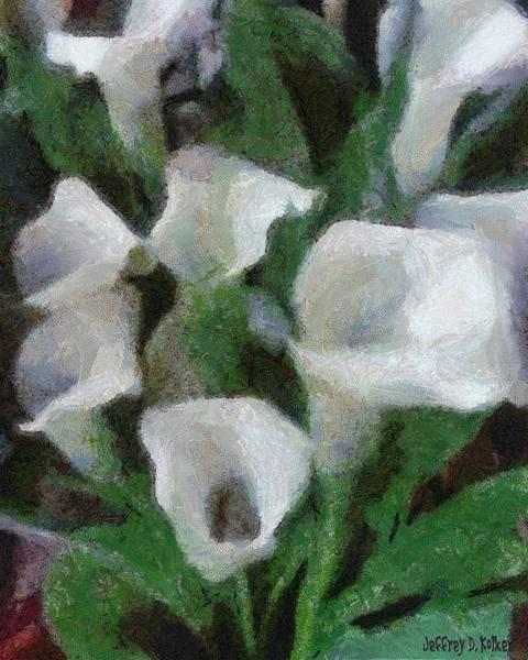 Wall Art - Painting - Kim's Flowers by Jeffrey Kolker