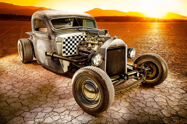 Classic Hot Rod Wall Art - Photograph - Millers Chop Shop 1946 Chevy Truck by Yo Pedro