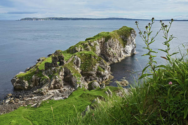 Down The Shore Photograph - Kinbane Castle, West Of Ballycastle by Carl Bruemmer