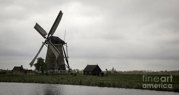 Noord Holland Wall Art - Photograph - Kinderdijk Windmill Museum 03 by Teresa Mucha