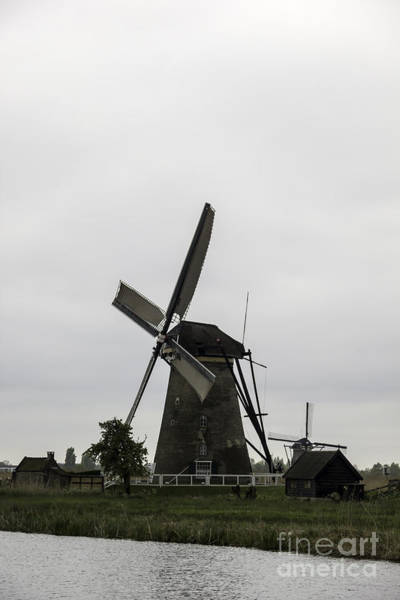 Noord Holland Wall Art - Photograph - Kinderdijk Windmill Museum 2 by Teresa Mucha