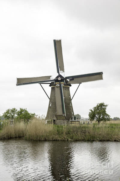 Noord Holland Wall Art - Photograph - Kinderdijk Windmill Museum Anno 1738 by Teresa Mucha