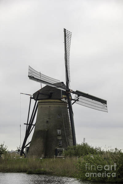 Noord Holland Wall Art - Photograph - Kinderdijk Windmill Museum by Teresa Mucha