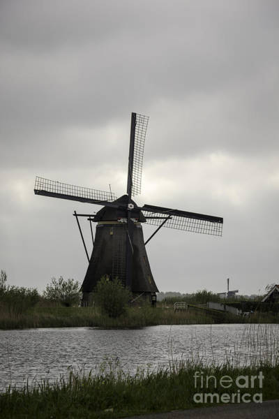 Noord Holland Wall Art - Photograph - Kinderdijk Windmill by Teresa Mucha