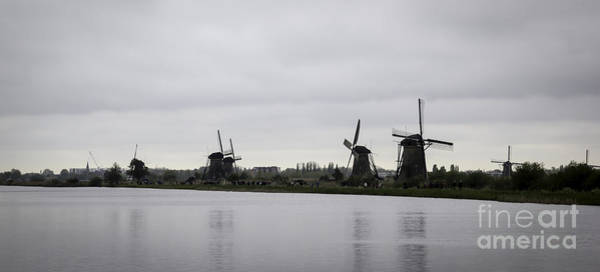 Noord Holland Wall Art - Photograph - Kinderdijk Windmills 01 by Teresa Mucha