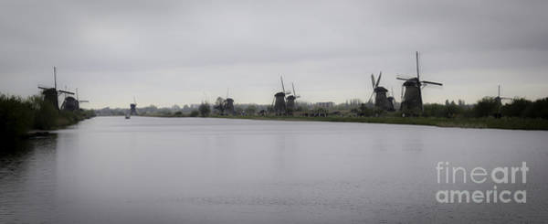 Noord Holland Wall Art - Photograph - Kinderdijk Windmills 02 by Teresa Mucha