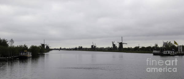 Noord Holland Wall Art - Photograph - Kinderdijk Windmills 03 by Teresa Mucha