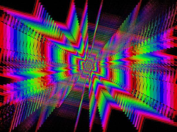 Symmetric Digital Art - Kinetic Rainbow 62 by Tim Allen