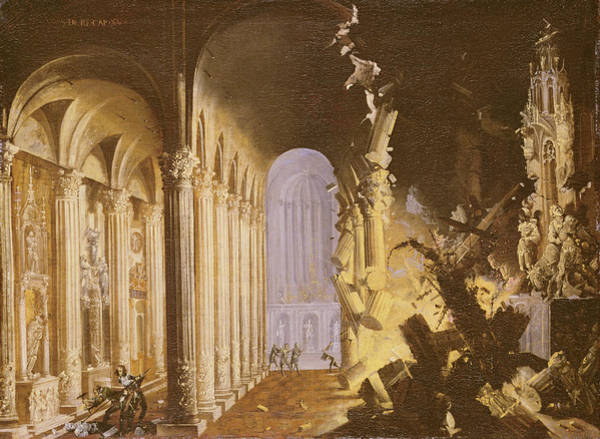 Collapse Painting - King Asa Of Judah Destroying The Statue by Francois de Nome