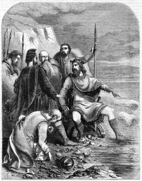 Wet Drawing - King Canute Of England (1016-1035) by Mary Evans Picture Library