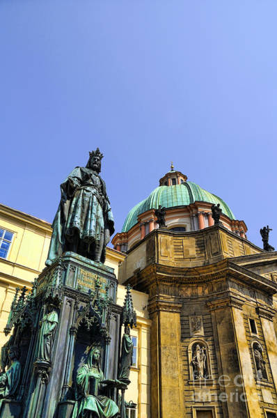 Photograph - King Charles In Prague by Brenda Kean