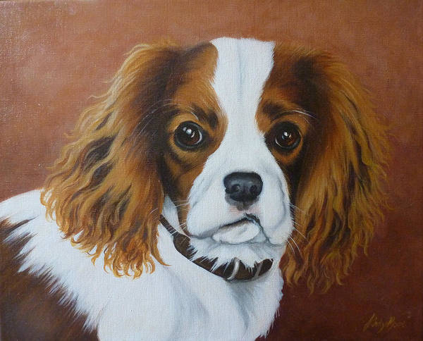 Field Spaniel Painting - King Charles Spaniel by Jane Indigo Moore