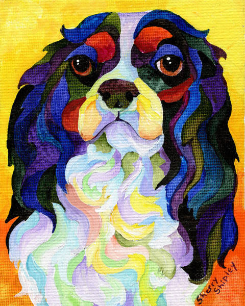 Painting - King Charles Spaniel by Sherry Shipley