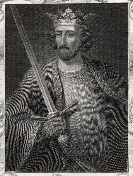 Wall Art - Drawing - King Edward I  Depicted Holding A Sword by Mary Evans Picture Library