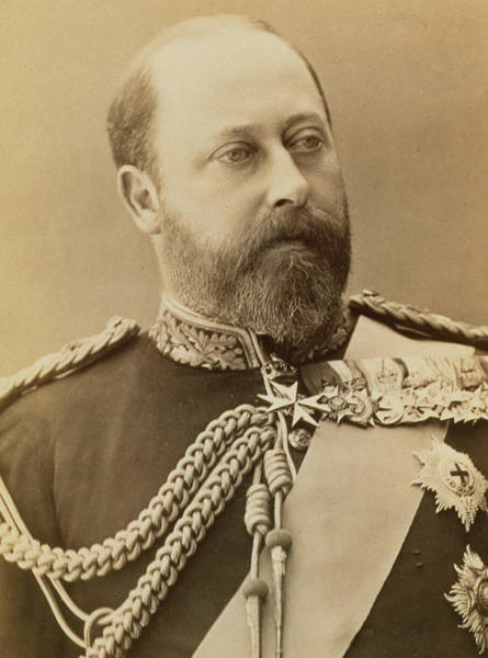 Braid Photograph - King Edward Vii  by Stanislaus Walery