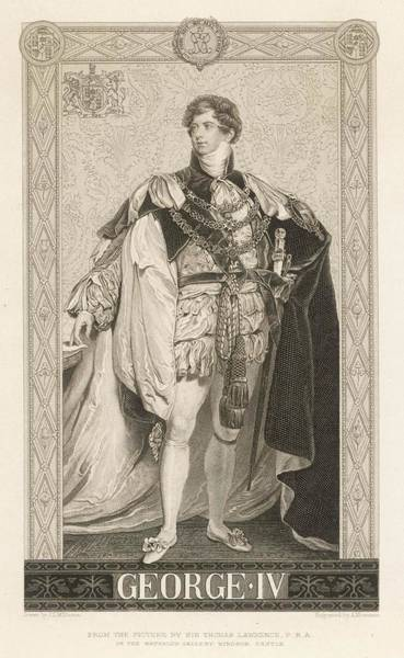 Wall Art - Drawing - King George Iv Of England(1762-1830) by Mary Evans Picture Library