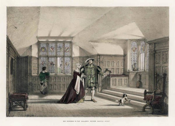 Wall Art - Drawing - King Henry Viii And Anne Boleyn by Mary Evans Picture Library