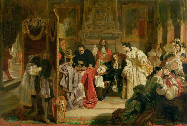 Glorious Wall Art - Painting - King James II Receiving The News by Edward Matthew Ward
