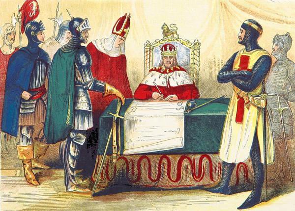 Wall Art - Photograph - King John Signing Magna Carta, 1215 by British Library