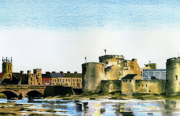 Painting - King Johns Castle Limerick by Val Byrne