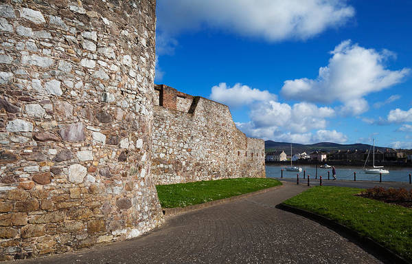 King Harbor Photograph - King Johns Castle Walls, Dungarvan by Panoramic Images