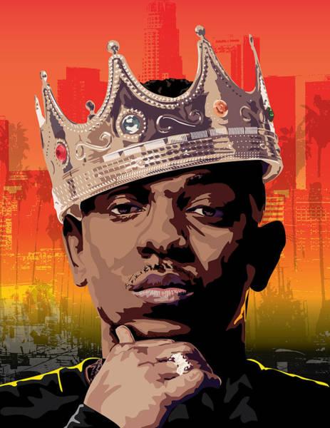 Wall Art - Digital Art - King Kendrick by Tec Nificent