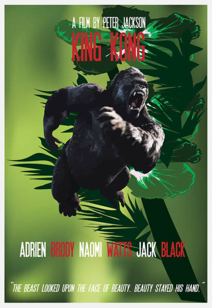 Painting - King Kong Movie Poster by Florian Rodarte