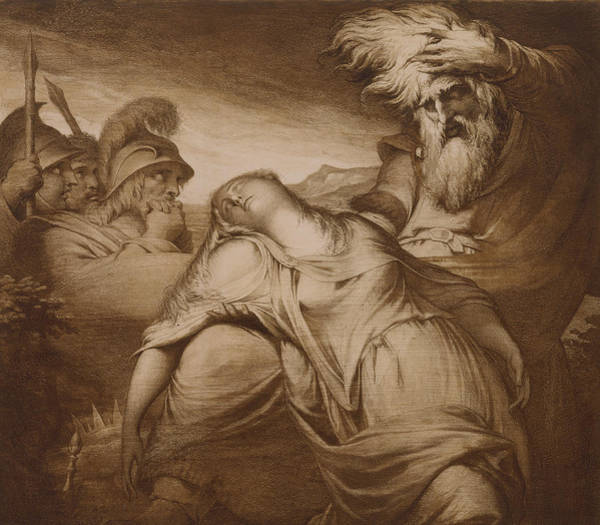 Tragedy Painting - King Lear And Cordelia by James Barry