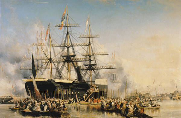 Wall Art - Painting - King Louis-philippe Disembarking At Portsmouth by Louis Eugene Gabriel Isabey