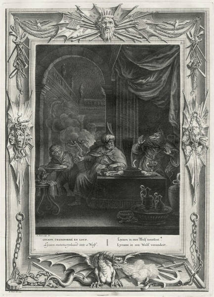 Arcadia Drawing - King Lycaon Of Arcadia, To  Test Zeus's by Mary Evans Picture Library