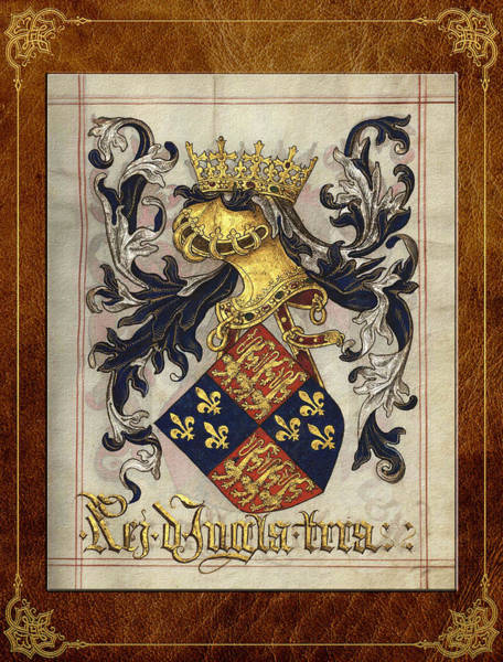 Digital Art - King Of England - Medieval Coat Of Arms  by Serge Averbukh
