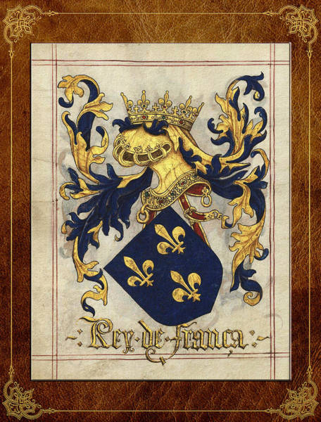 Regal Digital Art - King Of France - Medieval Coat Of Arms  by Serge Averbukh