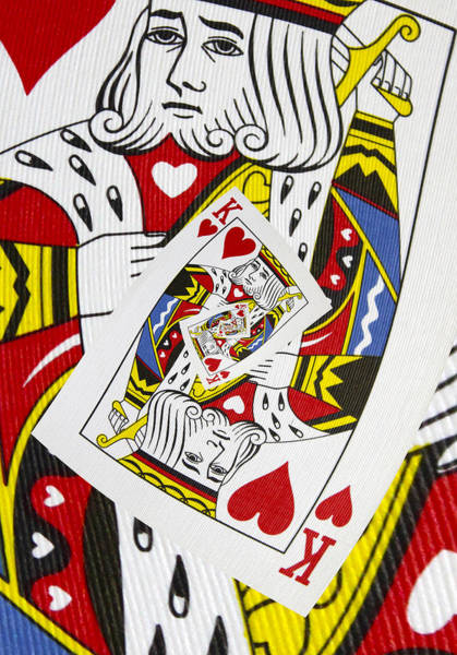 Photograph - King Of Hearts Collage by Kurt Van Wagner