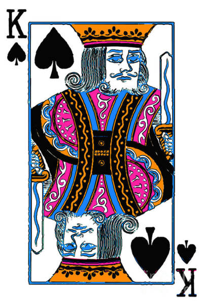 Photograph - King Of Spades - V3 by Wingsdomain Art and Photography