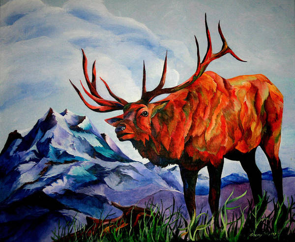 Painting - King Of The Hill by Sherry Shipley