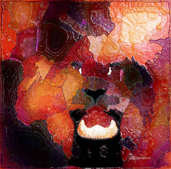 Digital Art - King Of The Jungle-featured In Comfortable Art-faa Gallery Artists Who Create And Wildlife Groups by Ericamaxine Price