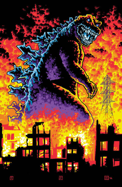 Godzilla Digital Art - King Of The Monsters by Chip Skelton