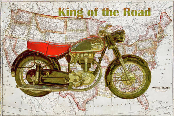 Dad Painting - King Of The Road by Ramona Murdock
